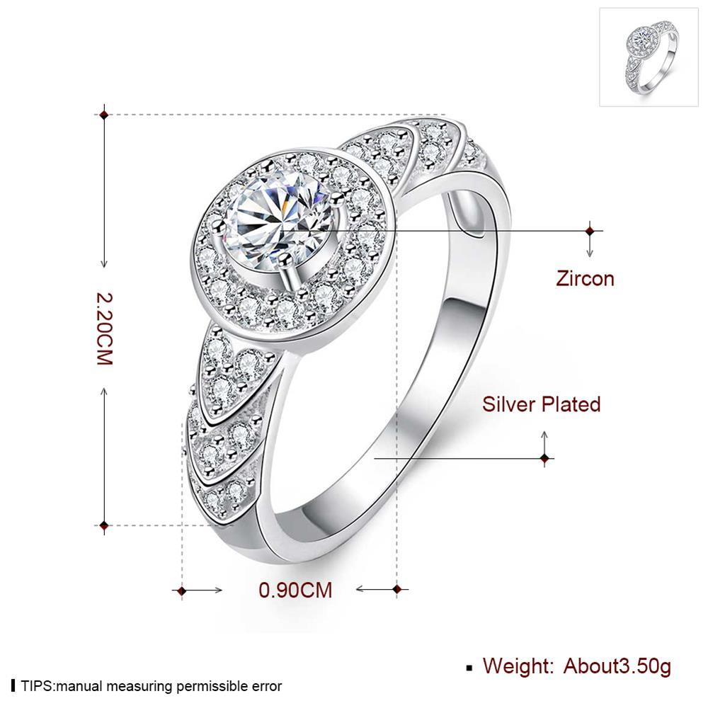 Wholesale Trendy Silver rings from China Shiny white rings Banquet Holiday Party wedding jewelry TGSPR248 5