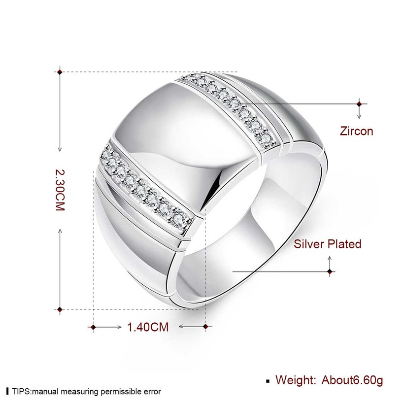 Wholesale Hot sale cheap NEW European and American style fashion Creative wide ring Zircon Rings wedding rings gothic rings for women TGSPR291 4