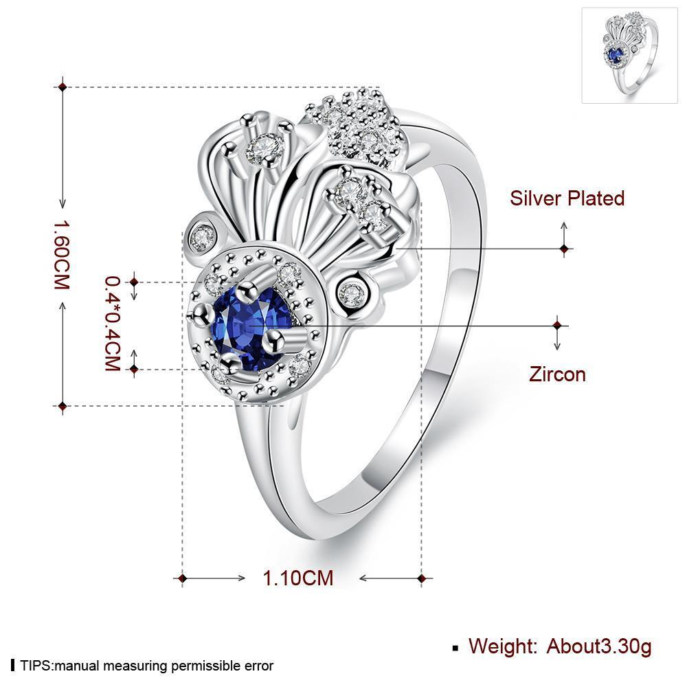 Wholesale rings from China for Lady Promotion Romantic Shiny blue Zircon Banquet Holiday Party Christmas wedding jewelry TGSPR151 0