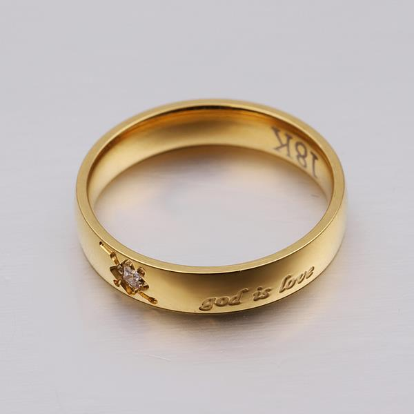 Wholesale Trendy Silver Round Gold CZ Ring TGGPR784 2