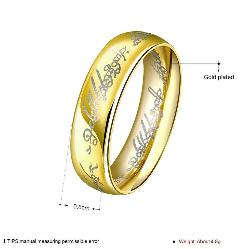 Wholesale Classic Silver Round Gold CZ Ring TGGPR832 0