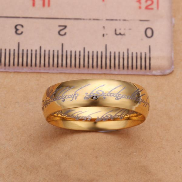 Wholesale Classic Silver Round Gold CZ Ring TGGPR832 4