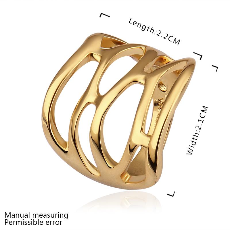 Wholesale Trendy 24K Gold Geometric White Rhinestone Ring TGGPR1487 0