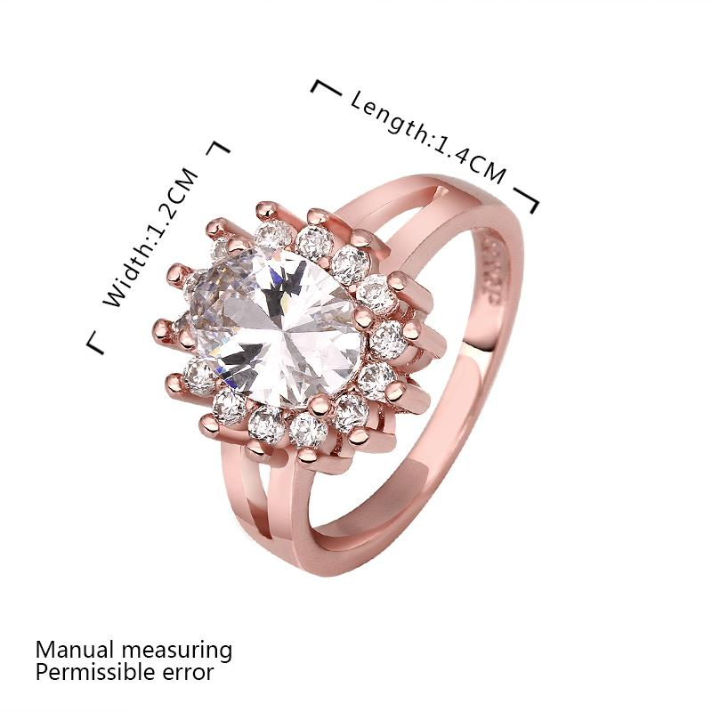 Wholesale Romantic 24K Gold Heart White CZ Ring TGGPR485 0