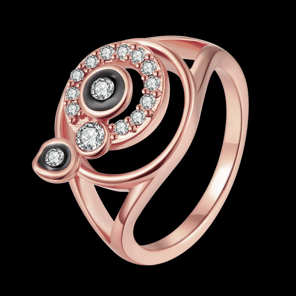 Wholesale Bohemia Rose Gold Round White Rhinestone Ring TGGPR346 0