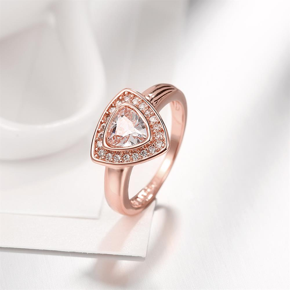 Wholesale Classic Rose Gold Geometric Multicolor CZ Ring TGGPR387 1