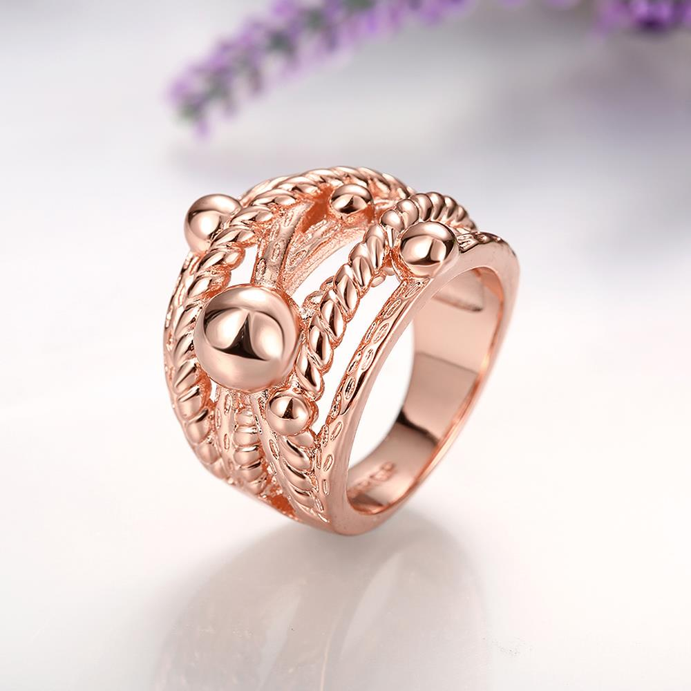 Wholesale Classic Rose Gold Geometric Ring TGGPR427 0
