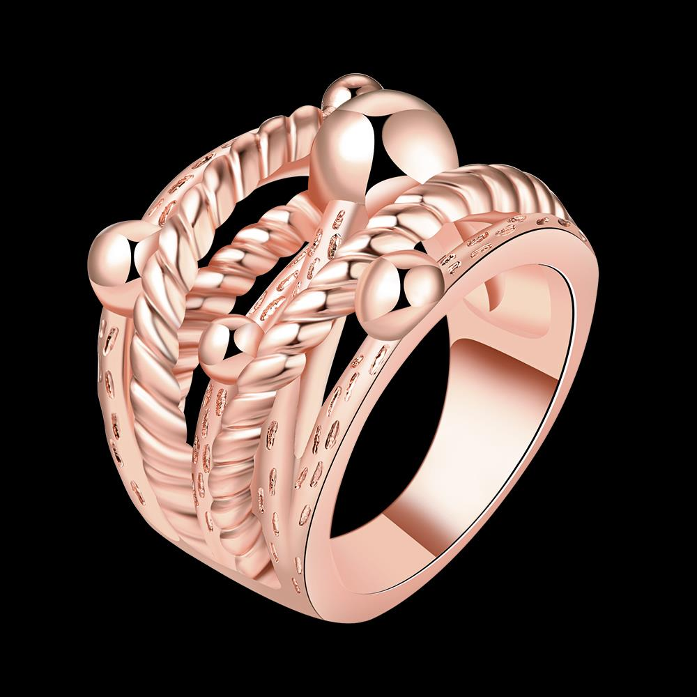 Wholesale Classic Rose Gold Geometric Ring TGGPR427 1