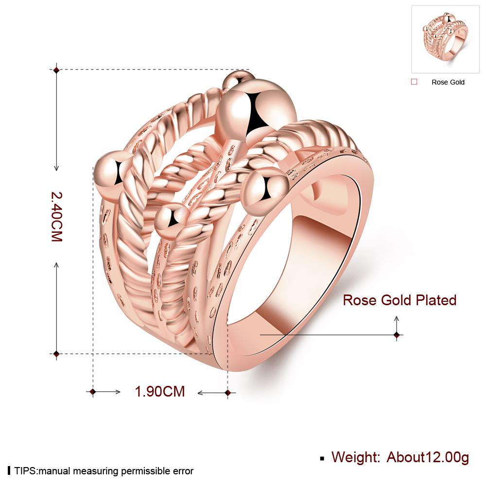 Wholesale Classic Rose Gold Geometric Ring TGGPR427 2
