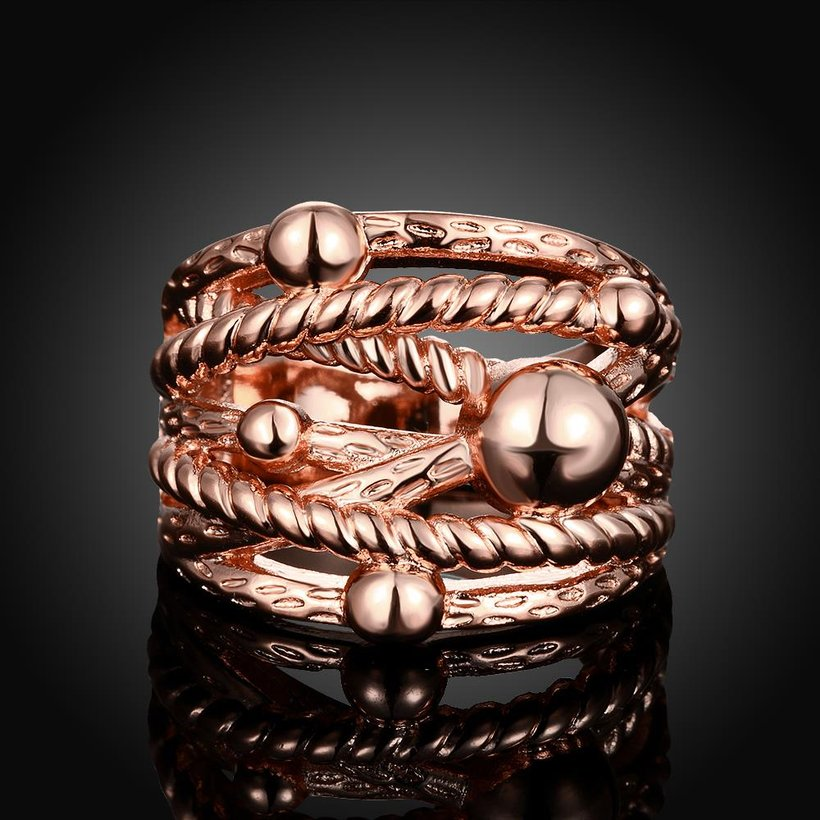 Wholesale Classic Rose Gold Geometric Ring TGGPR427 3