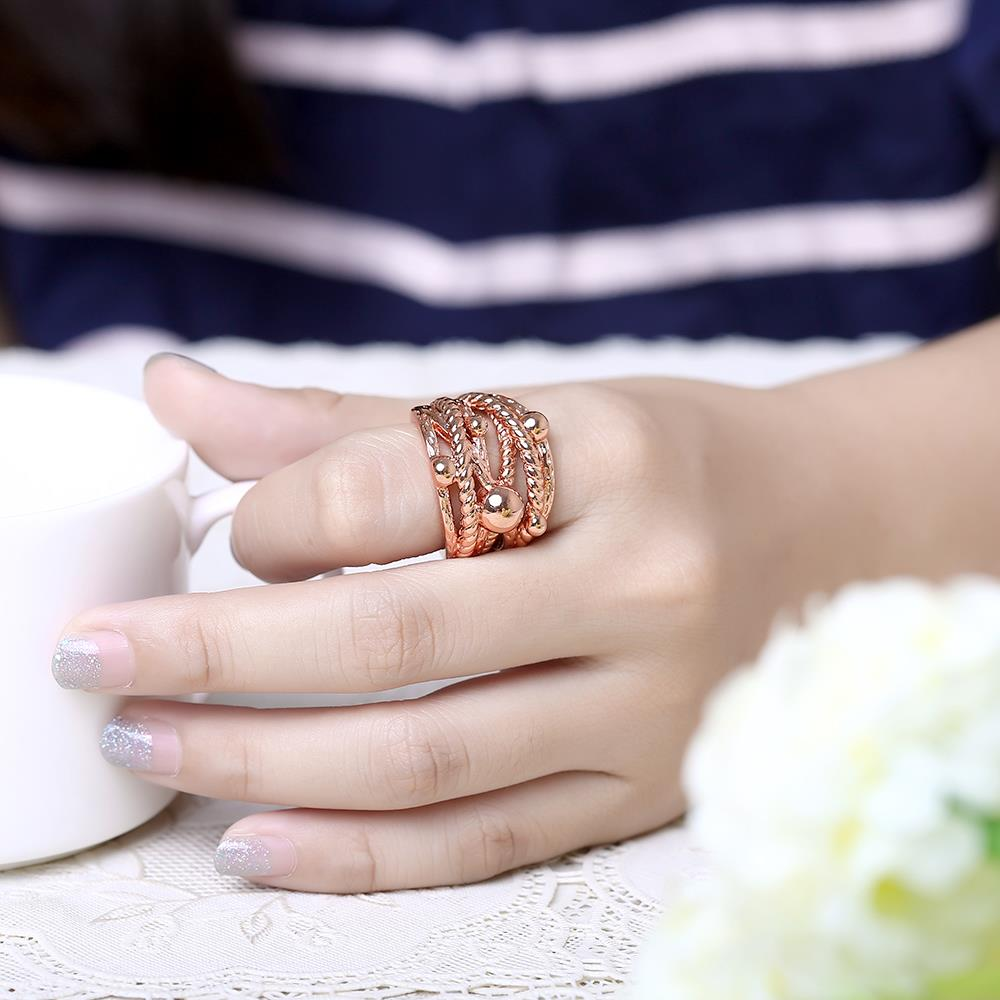 Wholesale Classic Rose Gold Geometric Ring TGGPR427 5