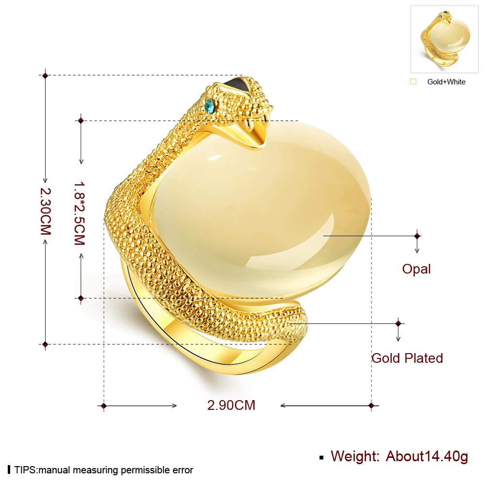 Wholesale Classic 24K Gold Animal Multicolor Stone Ring TGGPR858 1