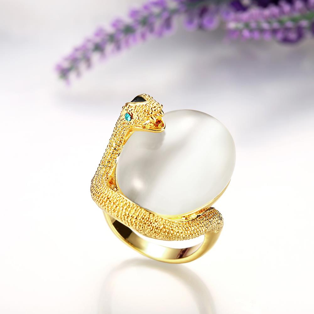 Wholesale Classic 24K Gold Animal Multicolor Stone Ring TGGPR858 3