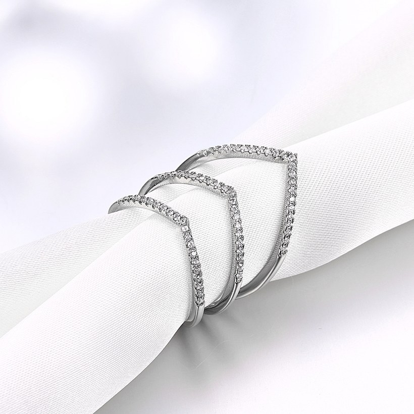 Wholesale Romantic Platinum Round White CZ Ring TGGPR1494 3