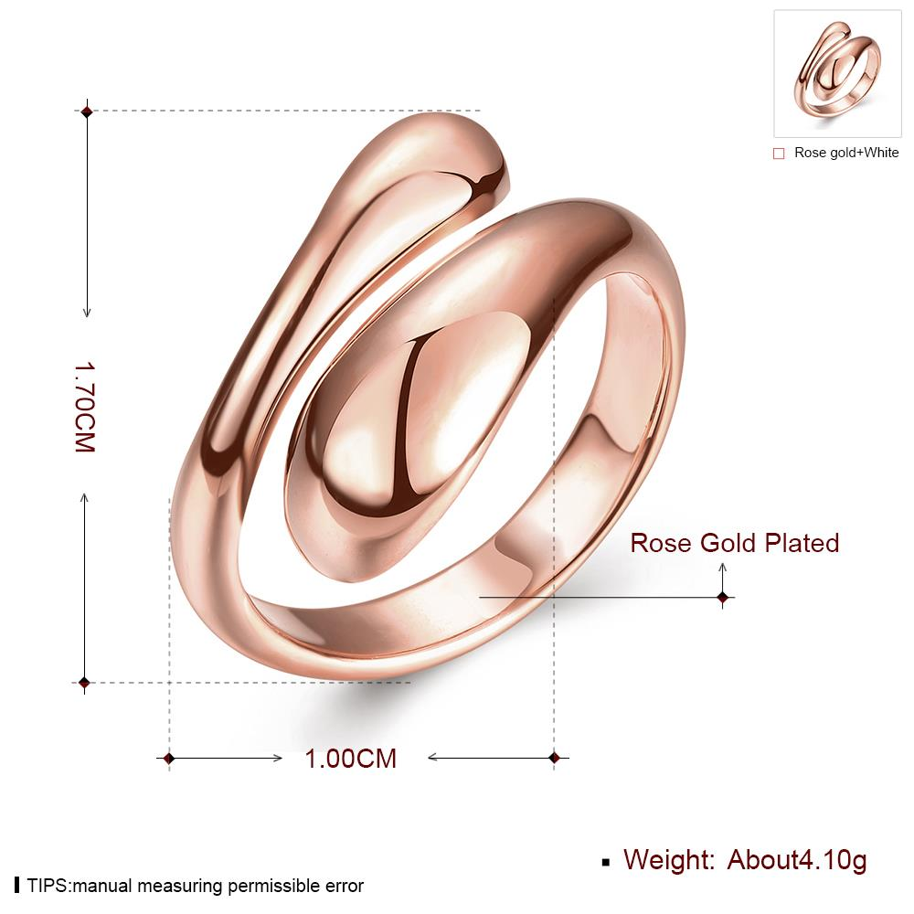 Wholesale Classic Rose Gold Geometric Ring TGGPR207 3
