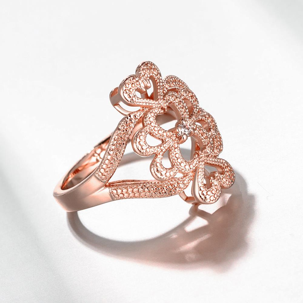 Wholesale Classic Rose Gold Heart White CZ Ring TGGPR1103 0
