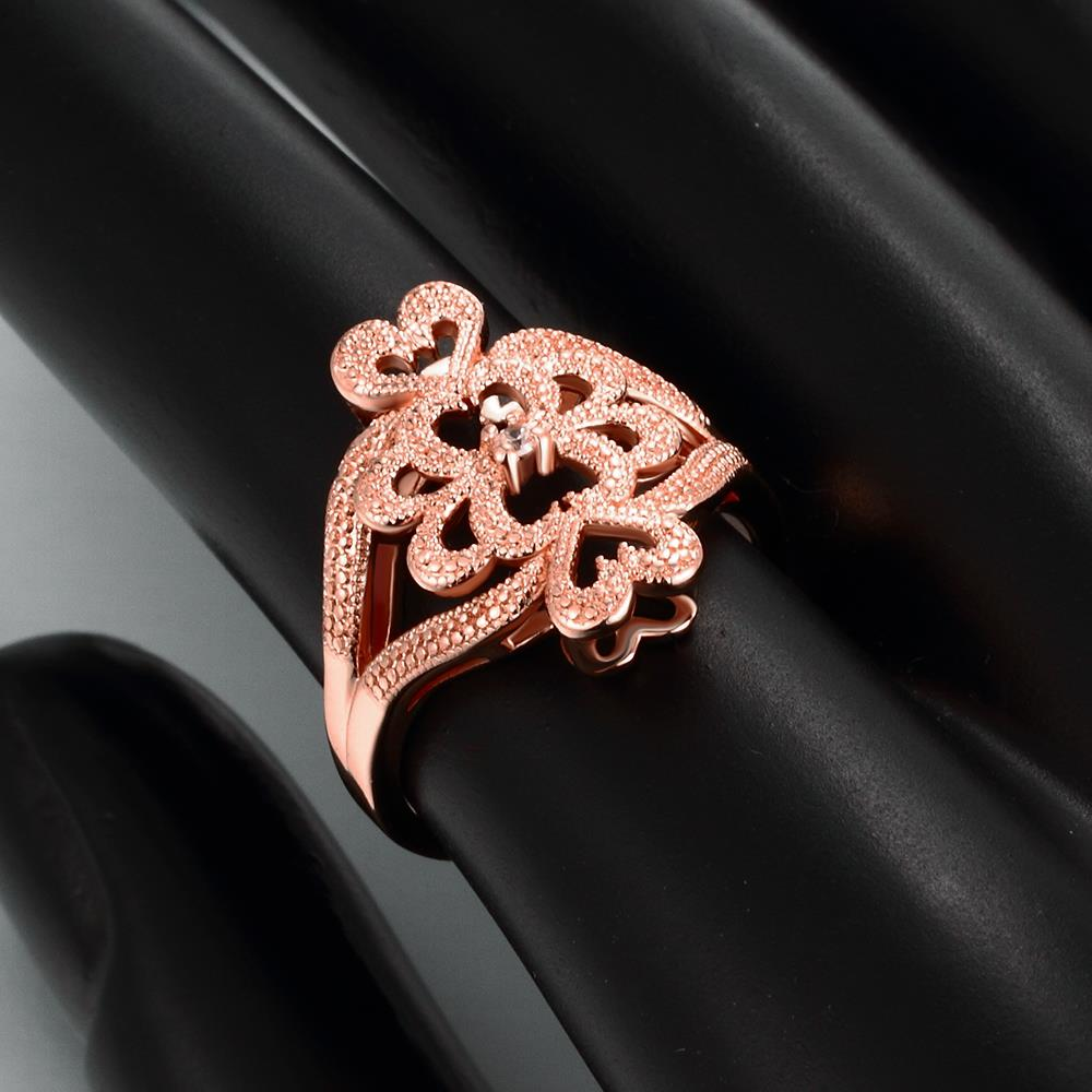 Wholesale Classic Rose Gold Heart White CZ Ring TGGPR1103 4