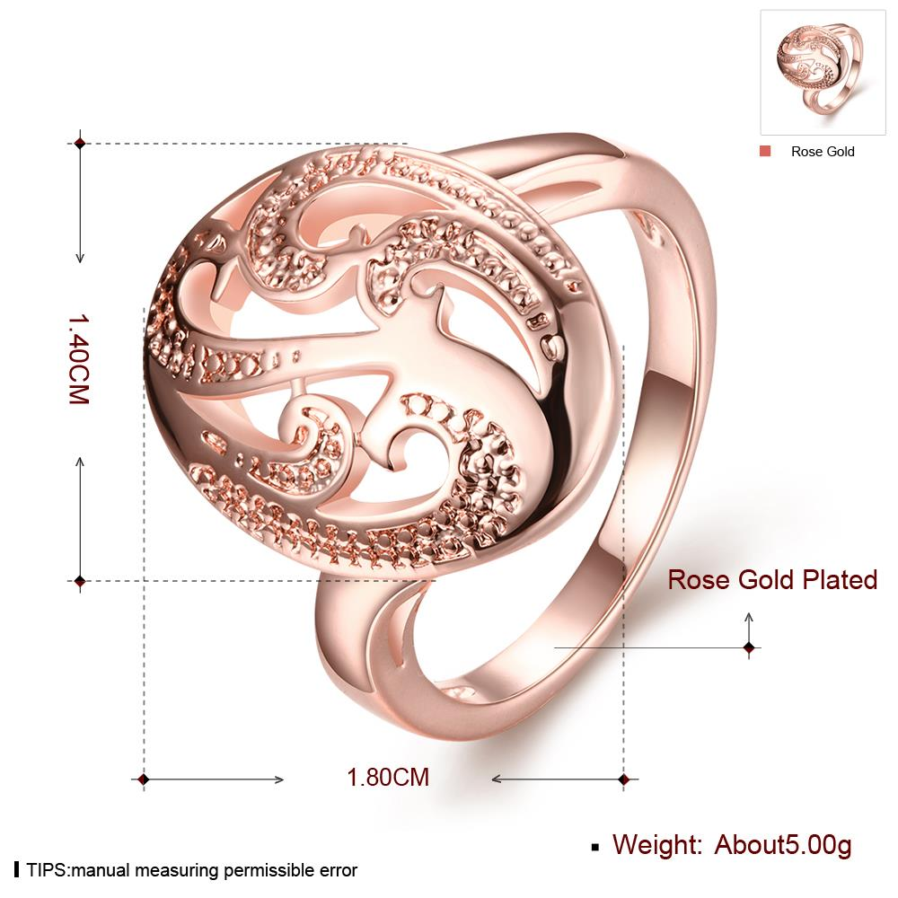 Wholesale Classic Rose Gold Oval White Ring TGGPR1144 0