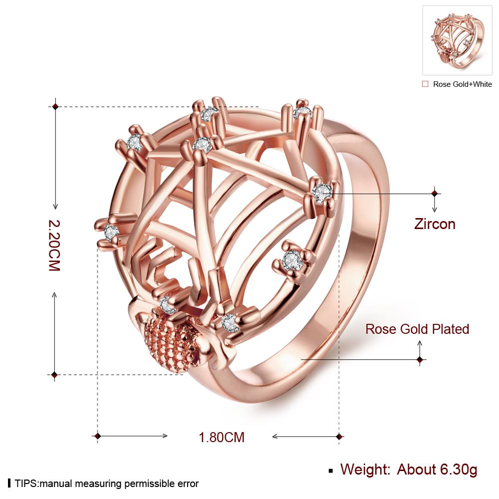 Wholesale Classic Rose Gold Insect White CZ Ring TGGPR1360 0