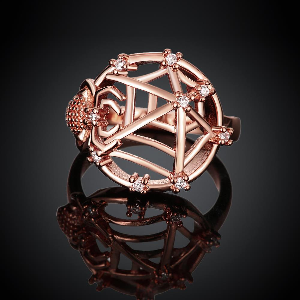 Wholesale Classic Rose Gold Insect White CZ Ring TGGPR1360 1