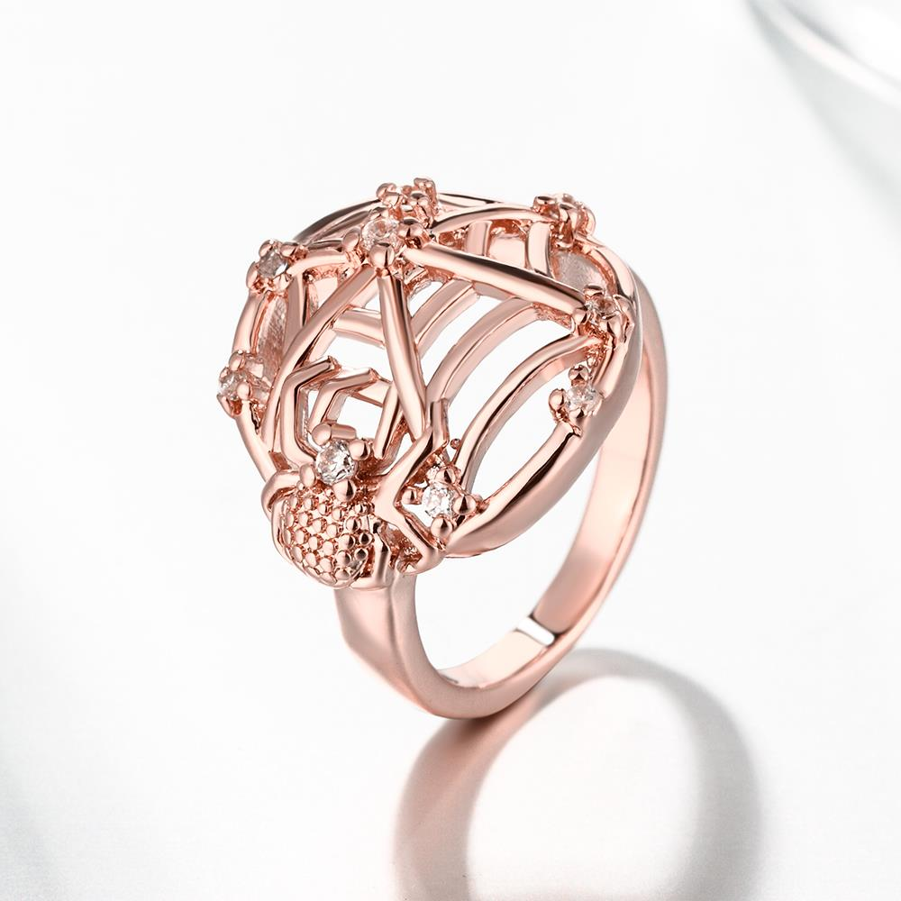 Wholesale Classic Rose Gold Insect White CZ Ring TGGPR1360 2