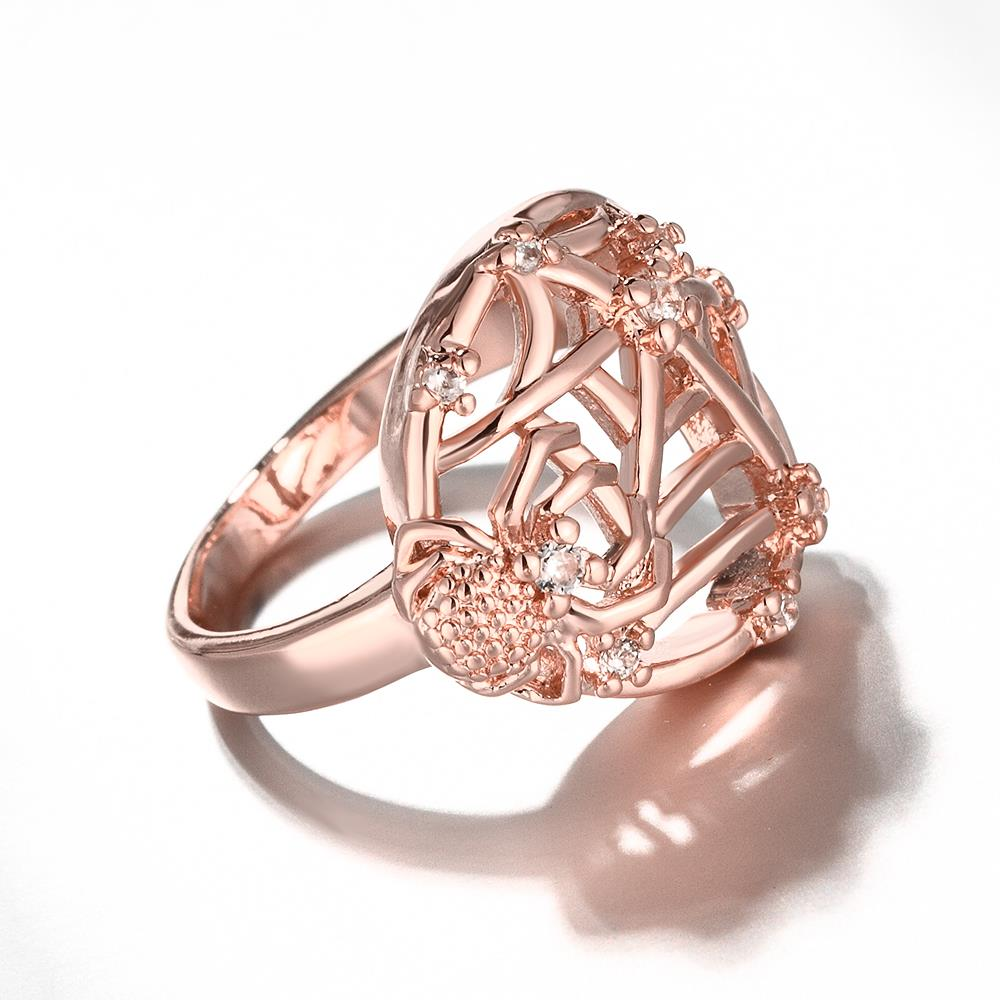 Wholesale Classic Rose Gold Insect White CZ Ring TGGPR1360 3