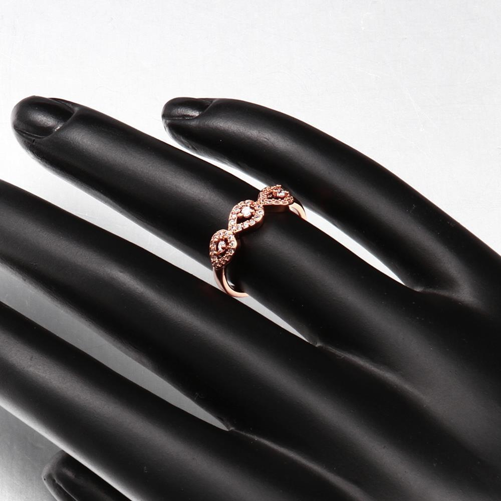 Wholesale Classic Rose Gold Plant White CZ Ring TGGPR1437 2