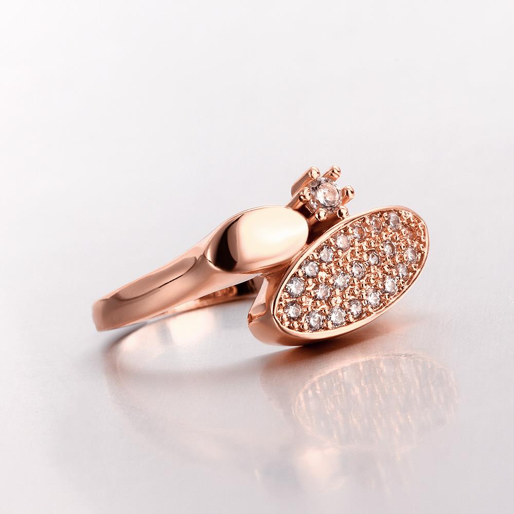 Wholesale Classic Rose Gold Round White CZ Ring TGGPR577 1