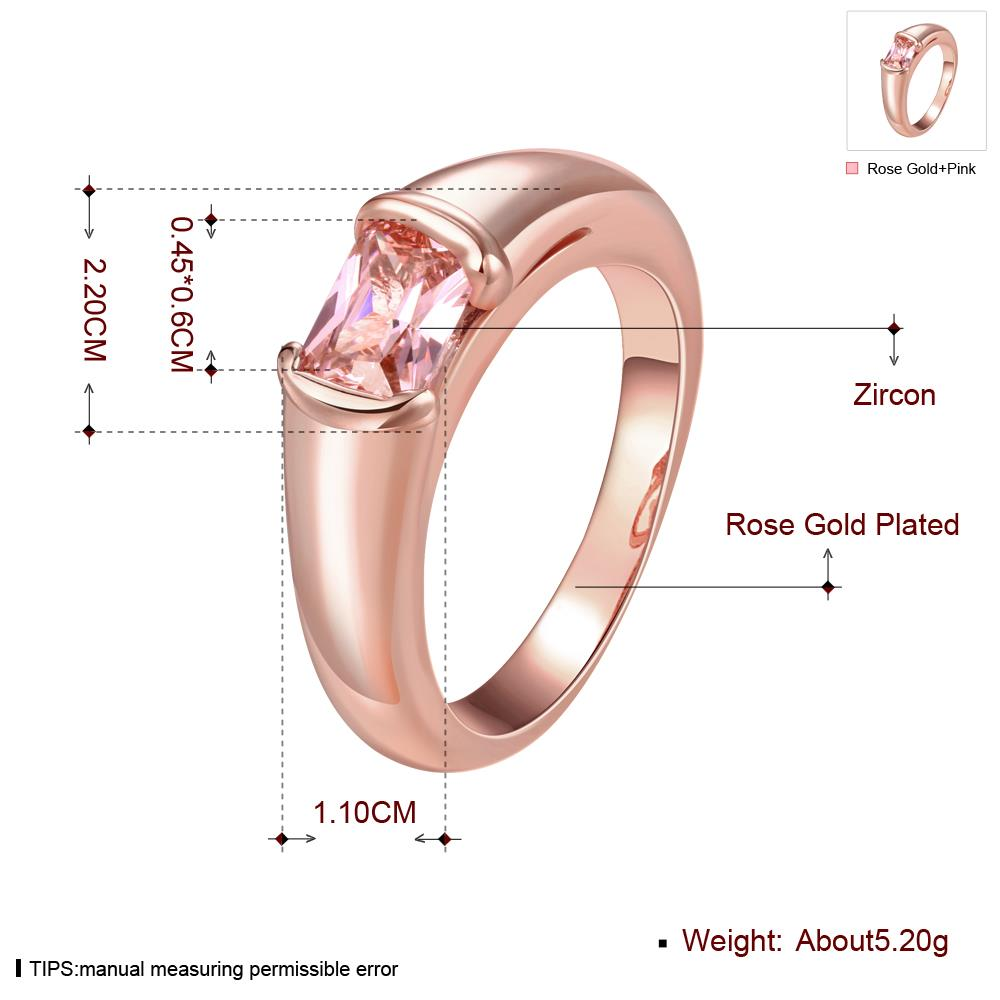 Wholesale Classic Rose Gold Round White CZ Ring TGGPR902 0