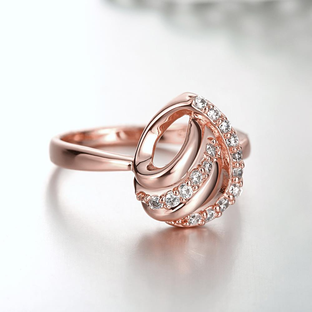 Wholesale Classic Rose Gold Heart White CZ Ring TGGPR959 3