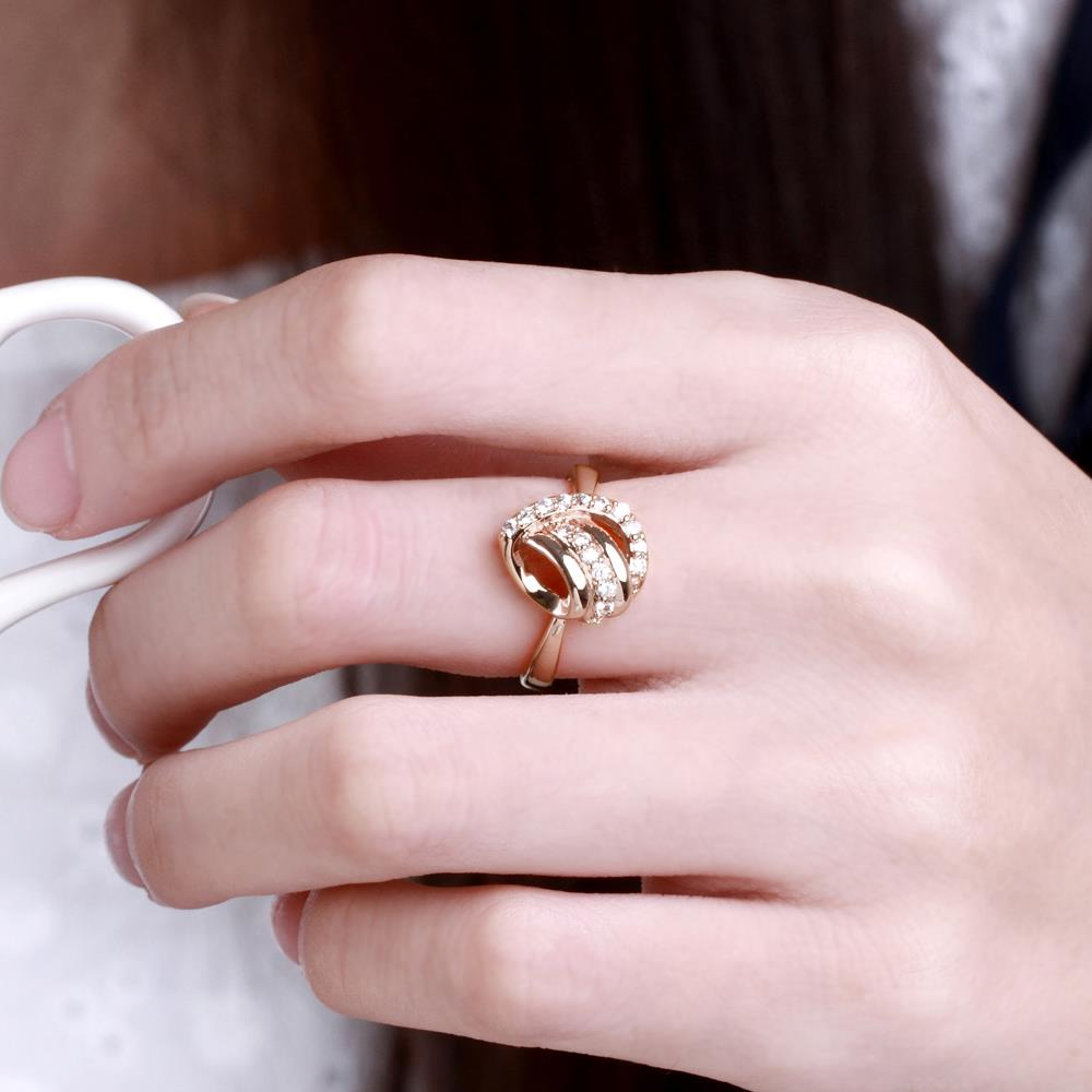 Wholesale Classic Rose Gold Heart White CZ Ring TGGPR959 4