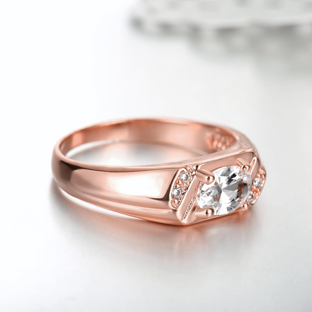 Wholesale Classic Rose Gold Round White CZ Ring TGGPR973 3