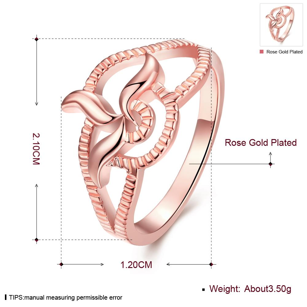 Wholesale Classic Rose Gold Plant Ring TGGPR1215 0