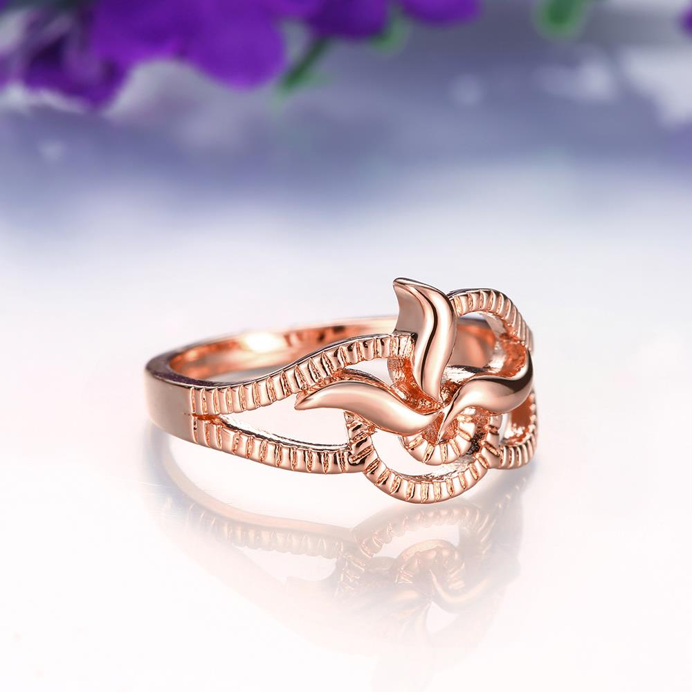 Wholesale Classic Rose Gold Plant Ring TGGPR1215 2