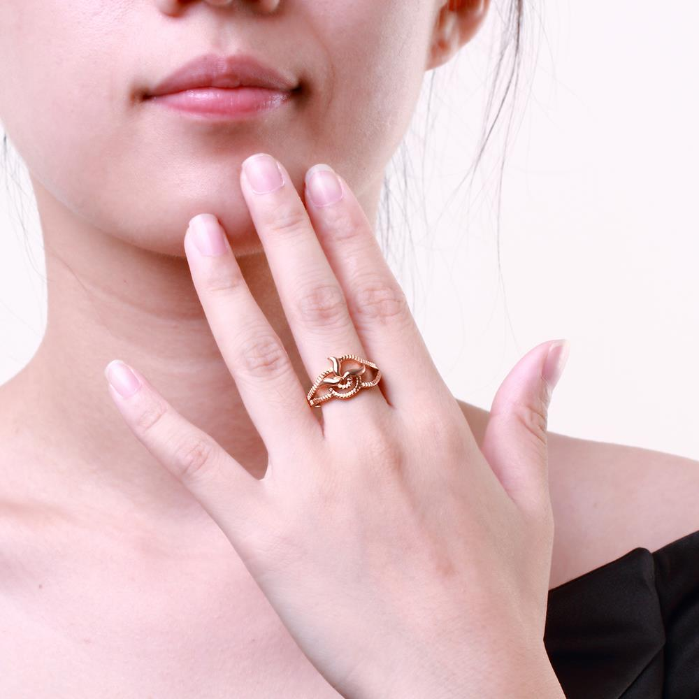 Wholesale Classic Rose Gold Plant Ring TGGPR1215 4
