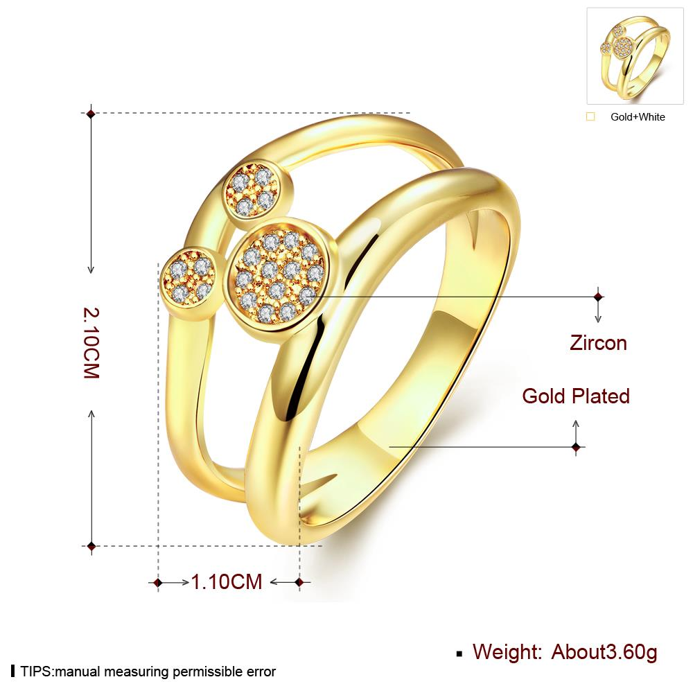 Wholesale Classic 24K Gold Animal White CZ Ring TGGPR363 0