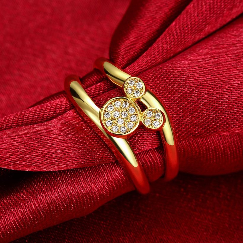 Wholesale Classic 24K Gold Animal White CZ Ring TGGPR363 4