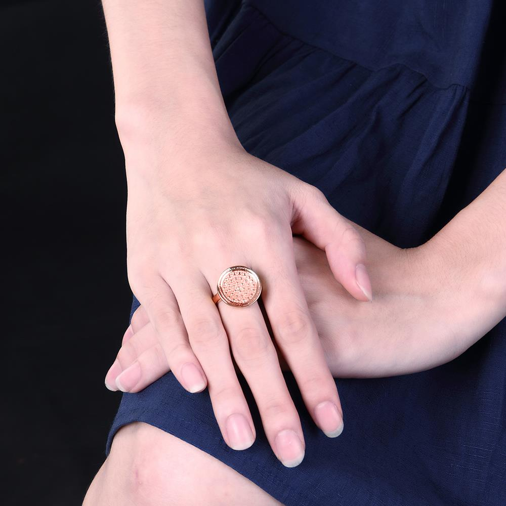 Wholesale Punk Rose Gold Round Ring TGGPR1174 2