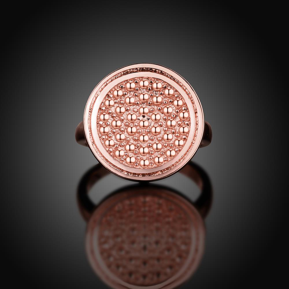 Wholesale Punk Rose Gold Round Ring TGGPR1174 4