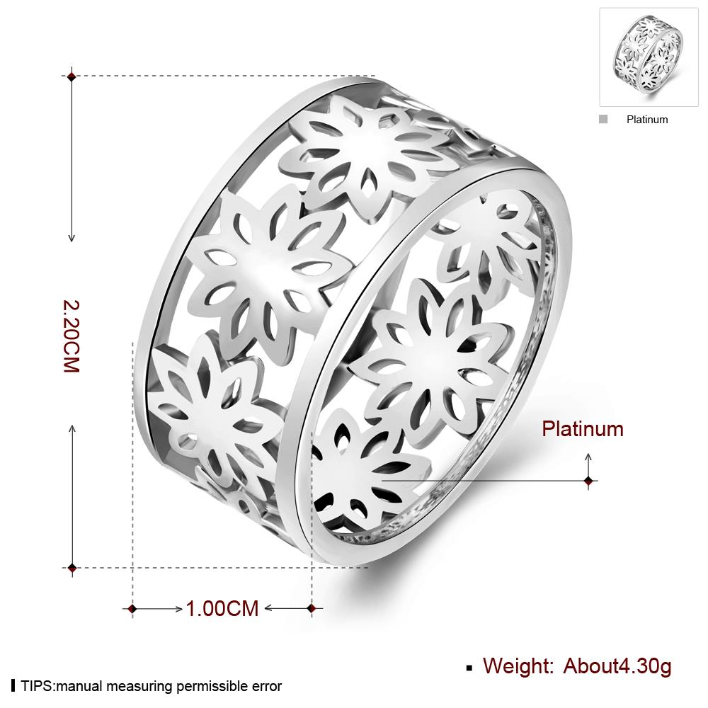 Wholesale Punk Platinum Geometric CZ Ring TGGPR1243 0