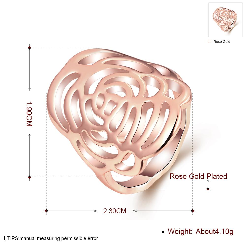 Wholesale Trendy Rose Gold Plant Ring TGGPR1168 0