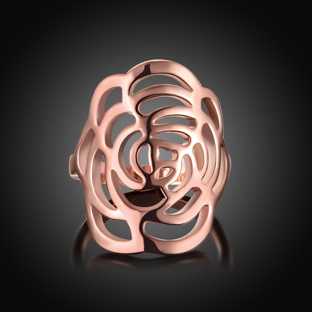 Wholesale Trendy Rose Gold Plant Ring TGGPR1168 1