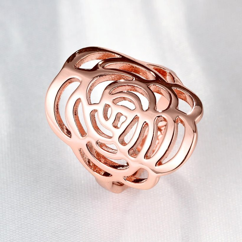 Wholesale Trendy Rose Gold Plant Ring TGGPR1168 2