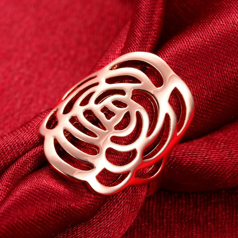 Wholesale Trendy Rose Gold Plant Ring TGGPR1168 3