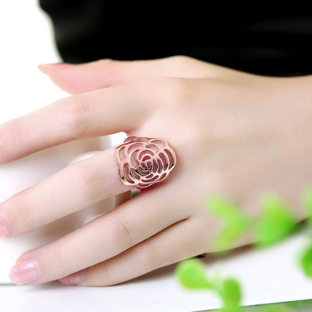 Wholesale Trendy Rose Gold Plant Ring TGGPR1168 4