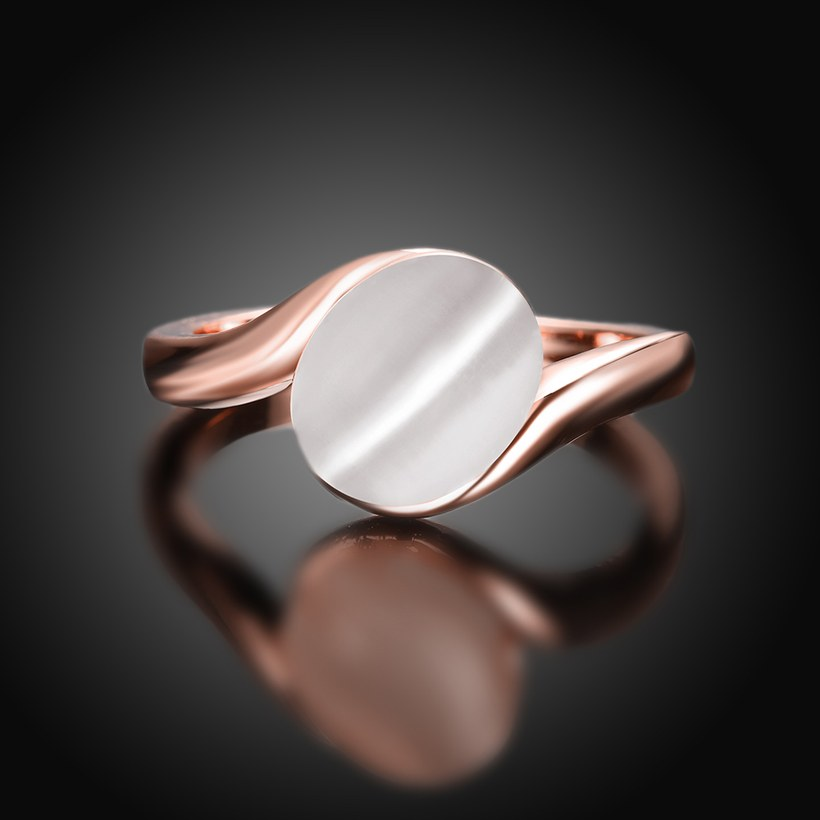 Wholesale Romantic Rose Gold Round White Stone Ring TGGPR1484 1