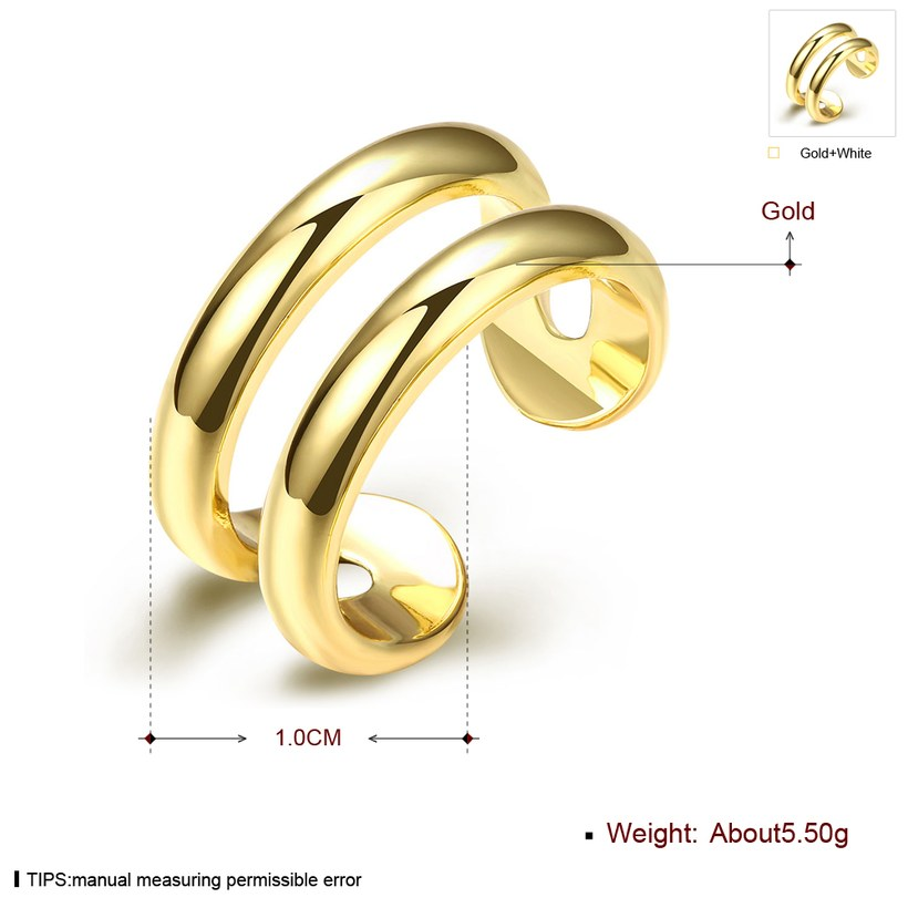 Wholesale Trendy 24K Gold Geometric Ring TGGPR1503 2