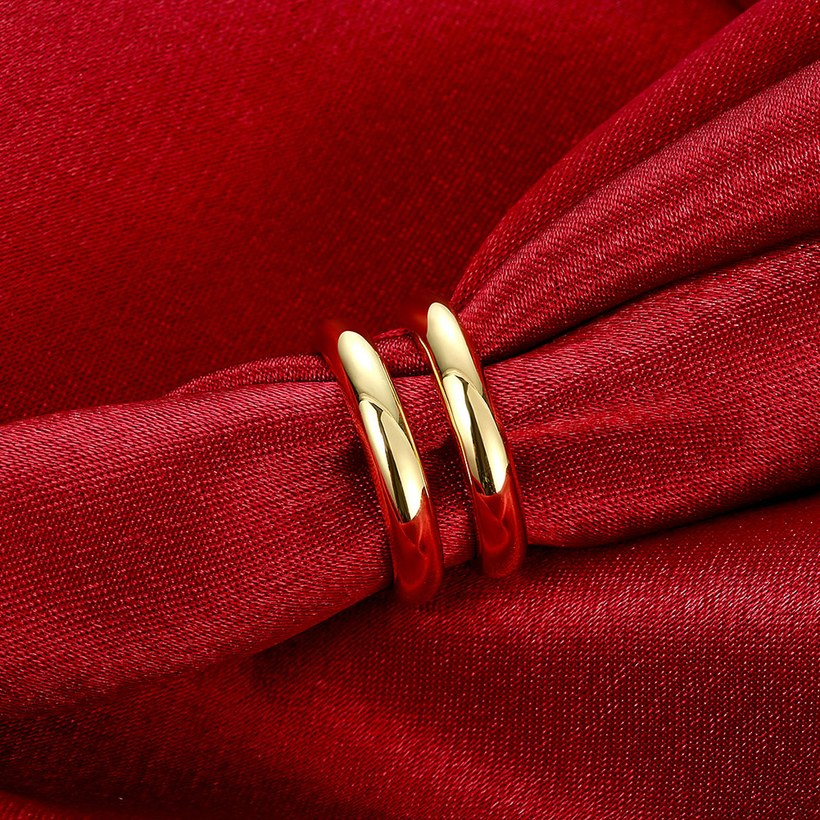 Wholesale Trendy 24K Gold Geometric Ring TGGPR1503 3