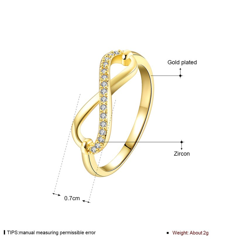 Wholesale Trendy Antique Gold White CZ Ring TGGPR253 0