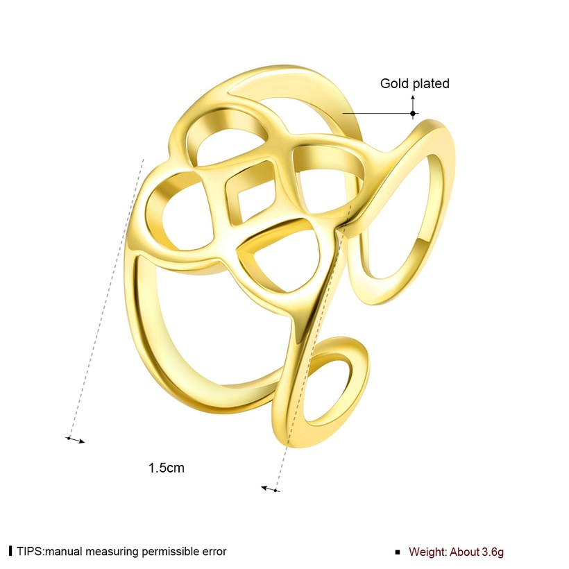 Wholesale Trendy Antique Gold Geometric Ring TGGPR379 0